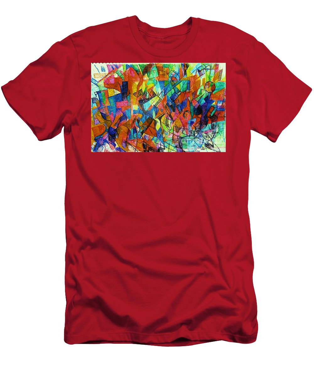 Torah Men's T-Shirt (Athletic Fit) featuring the drawing Answers In Abundance 1 by David Baruch Wolk