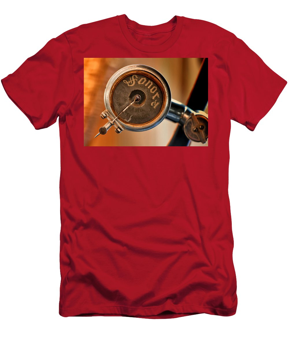 Antique Men's T-Shirt (Athletic Fit) featuring the photograph Antique Sonora Record Player by Stephen Anderson