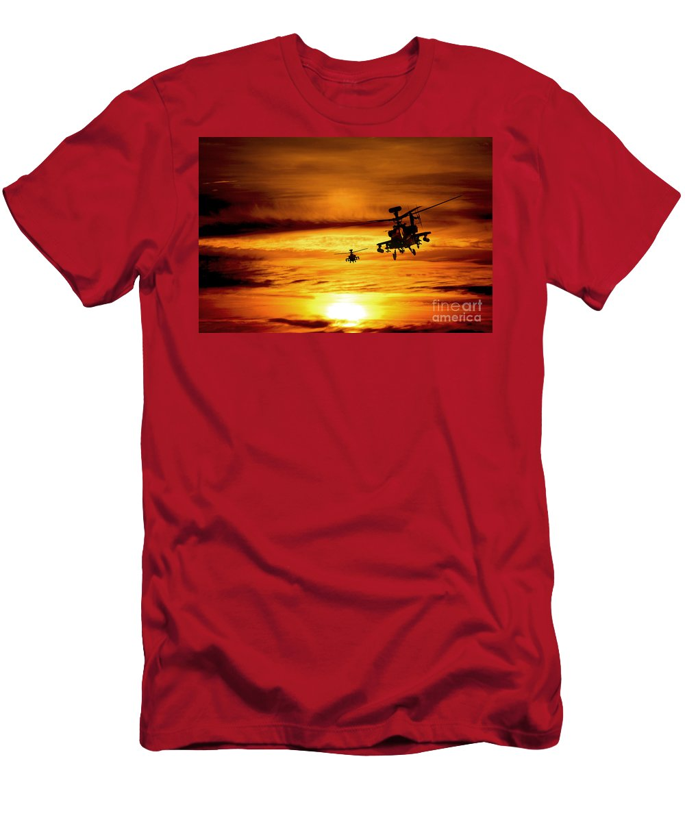 Apache Men's T-Shirt (Athletic Fit) featuring the digital art Apaches by J Biggadike