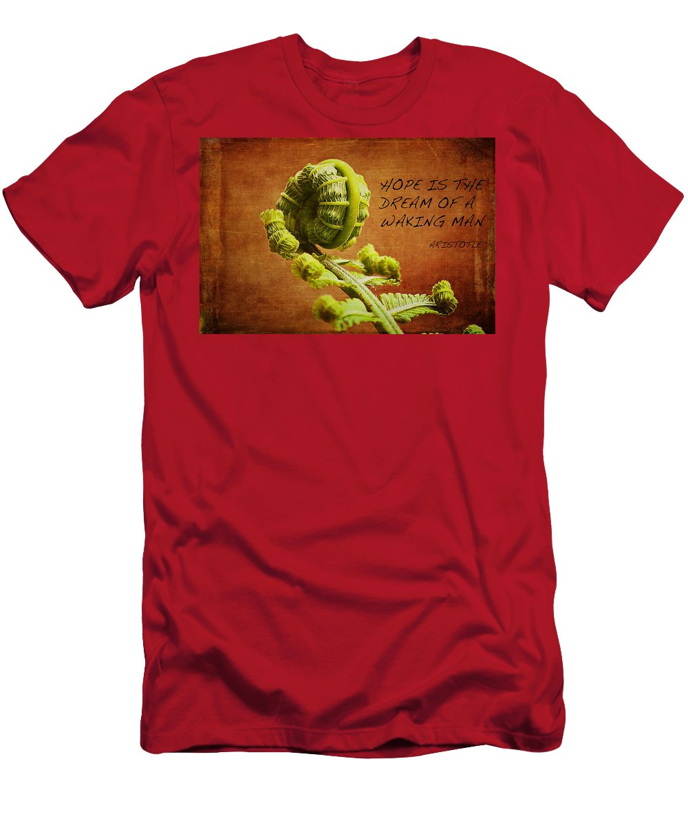Aristotle Quote Men's T-Shirt (Athletic Fit) featuring the photograph Aristotle Quote by Bellesouth Studio
