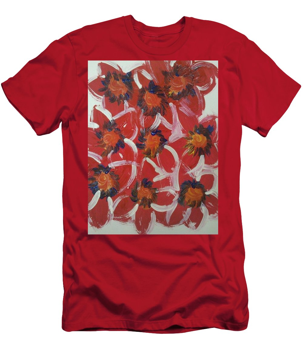 Flowers Men's T-Shirt (Athletic Fit) featuring the photograph Art Therapy 15 by Michele Monk