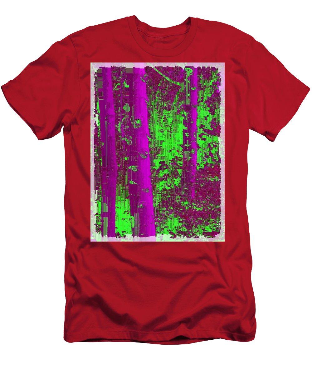 Aspen Men's T-Shirt (Athletic Fit) featuring the digital art Aspen Grove 9 by Tim Allen