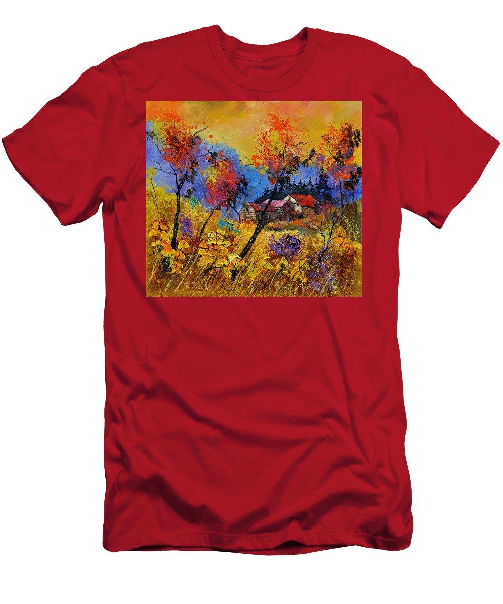 Landscape T-Shirt featuring the painting Autumn 884101 by Pol Ledent
