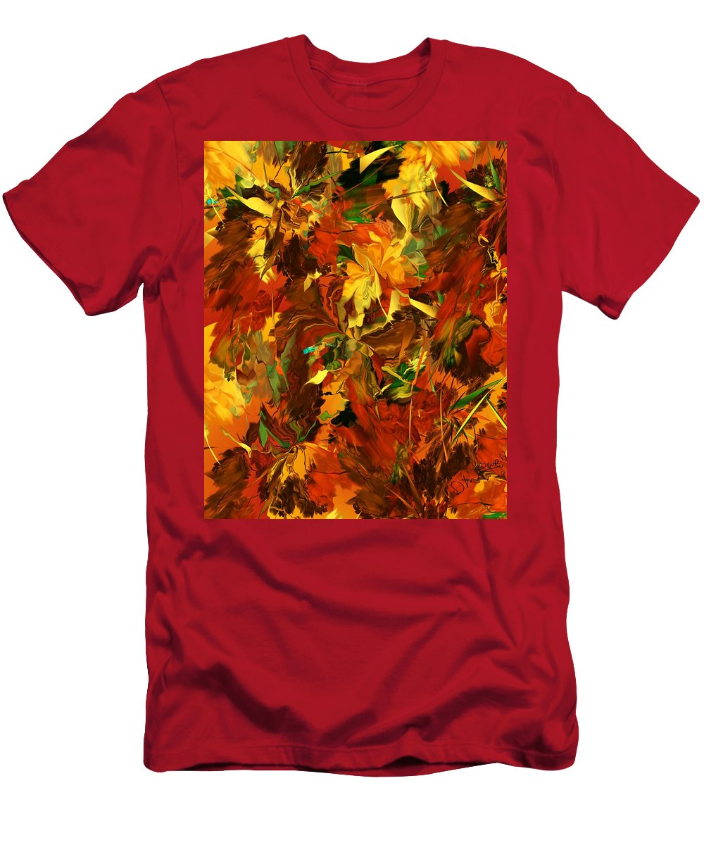 Fine Art Men's T-Shirt (Athletic Fit) featuring the digital art Autumn Burst by David Lane