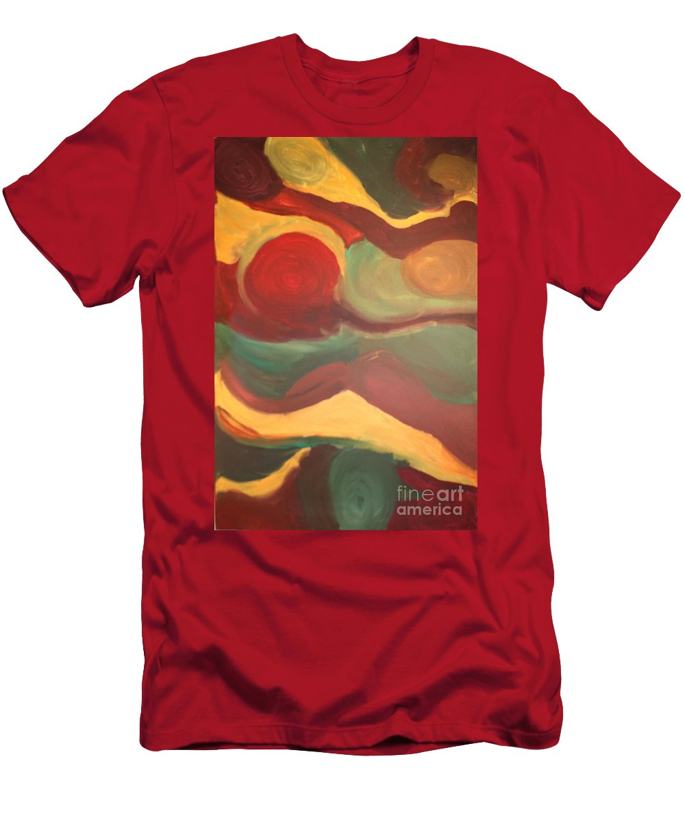 Men's T-Shirt (Athletic Fit) featuring the painting B And B by Christine Dekkers