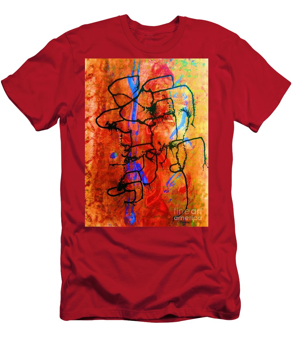 Original Men's T-Shirt (Athletic Fit) featuring the painting Baja Primative by Roberto Prusso