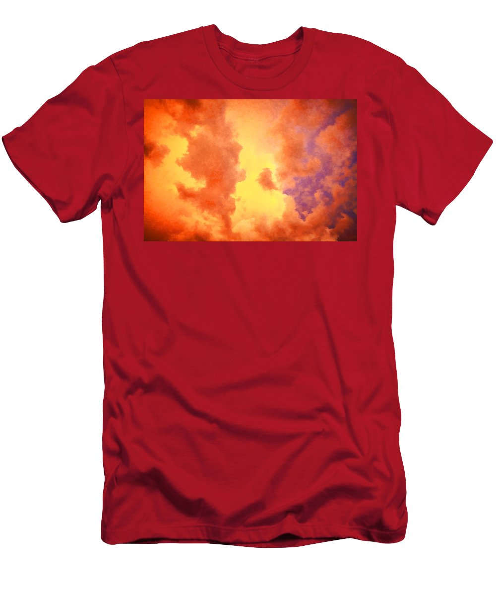 Clouds Men's T-Shirt (Athletic Fit) featuring the photograph Before The Storm Clouds Stratocumulus 2 by Rich Franco