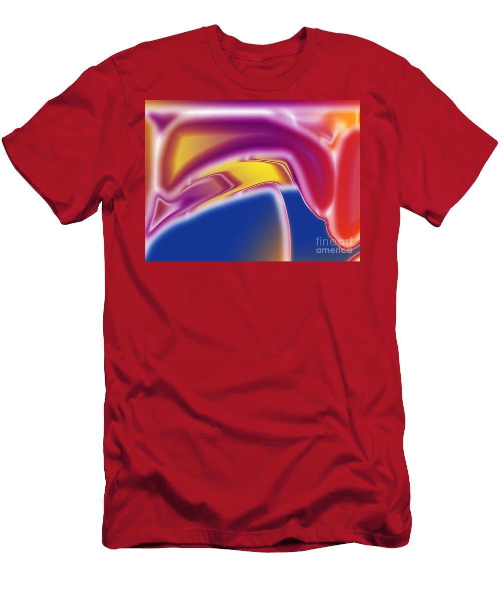 Bird Men's T-Shirt (Athletic Fit) featuring the digital art Big Hat Bird by Tom Hubbard