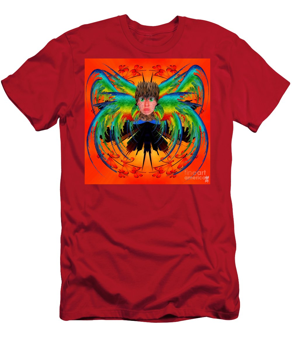 Fantasy Men's T-Shirt (Athletic Fit) featuring the digital art Bird Of Paradise by Neil Finnemore
