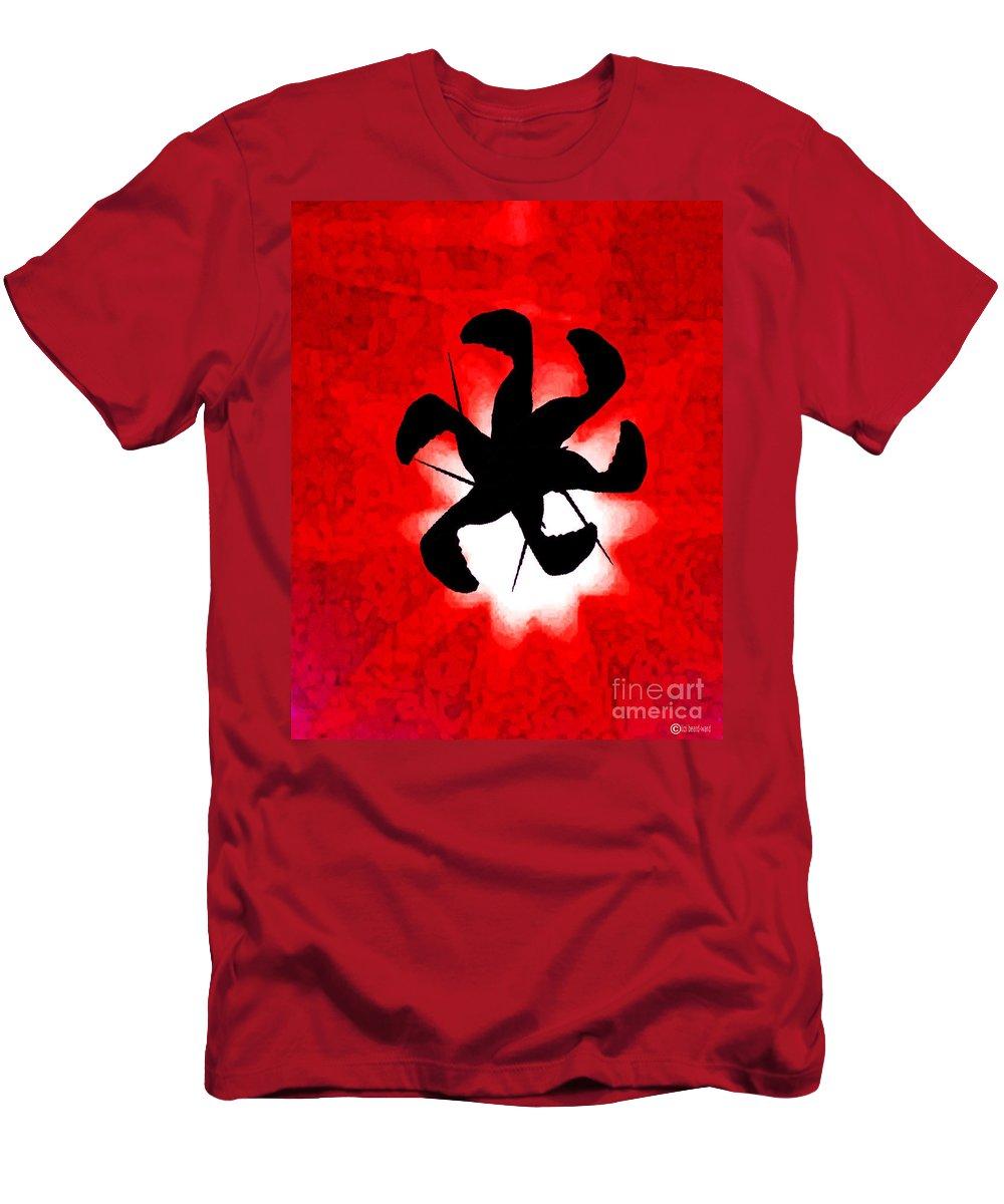 Red Men's T-Shirt (Athletic Fit) featuring the digital art Birdiegig by Lizi Beard-Ward