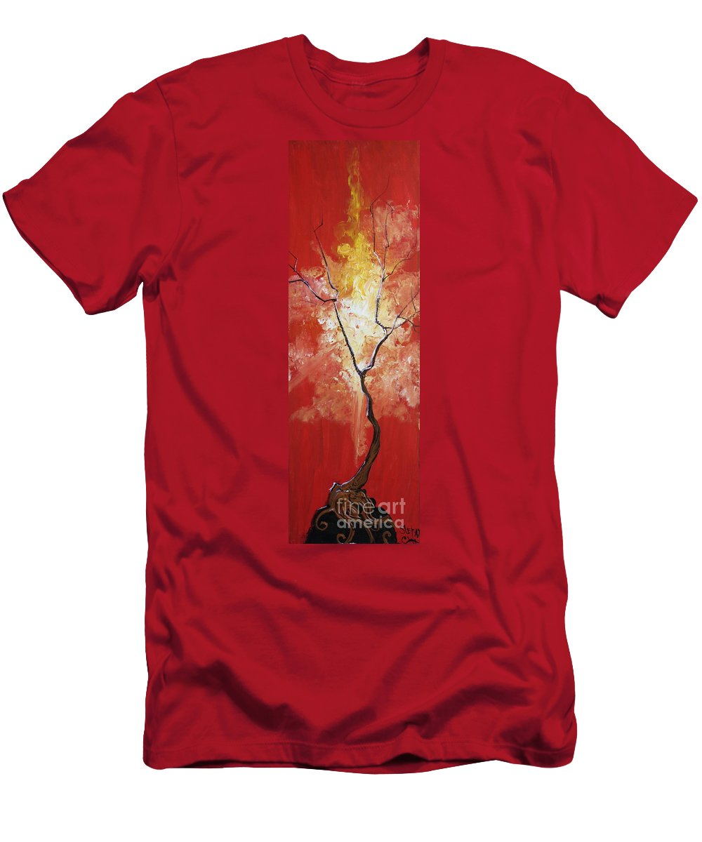 Fantasy Men's T-Shirt (Athletic Fit) featuring the painting Blaze My Soul by Stefan Duncan