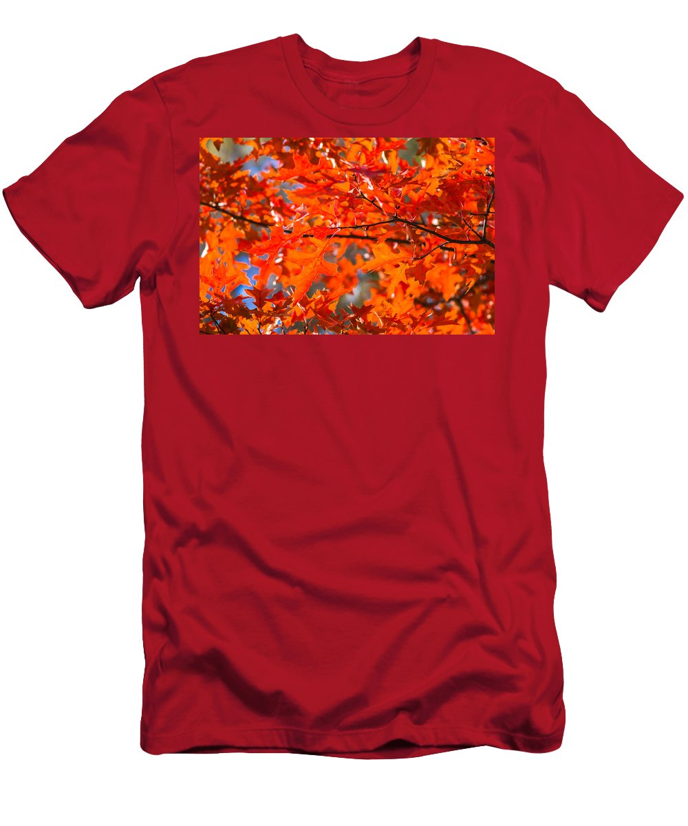 Abstract Men's T-Shirt (Athletic Fit) featuring the photograph Blazing Maple by Alexander Senin