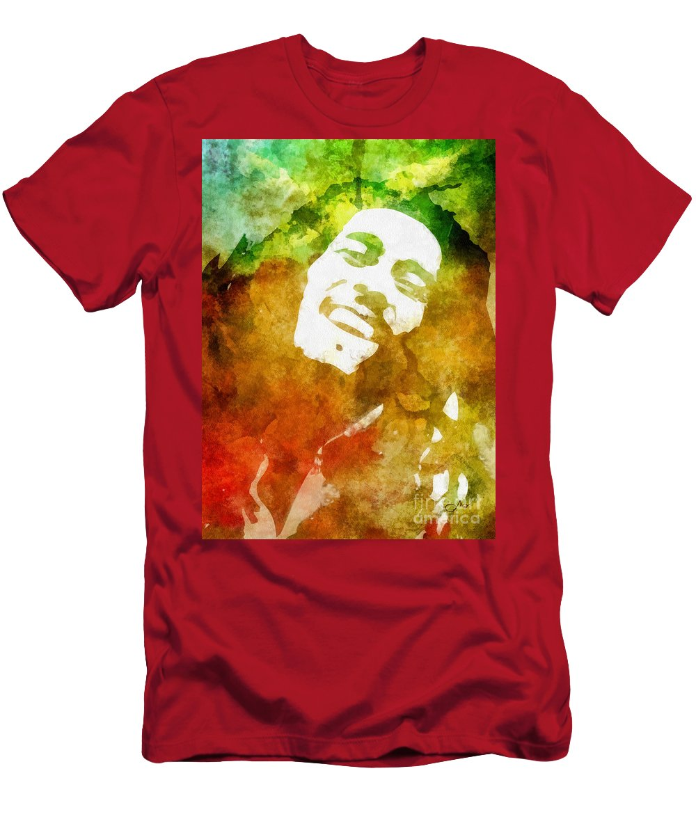 Bob Men's T-Shirt (Athletic Fit) featuring the painting Bob by Mo T