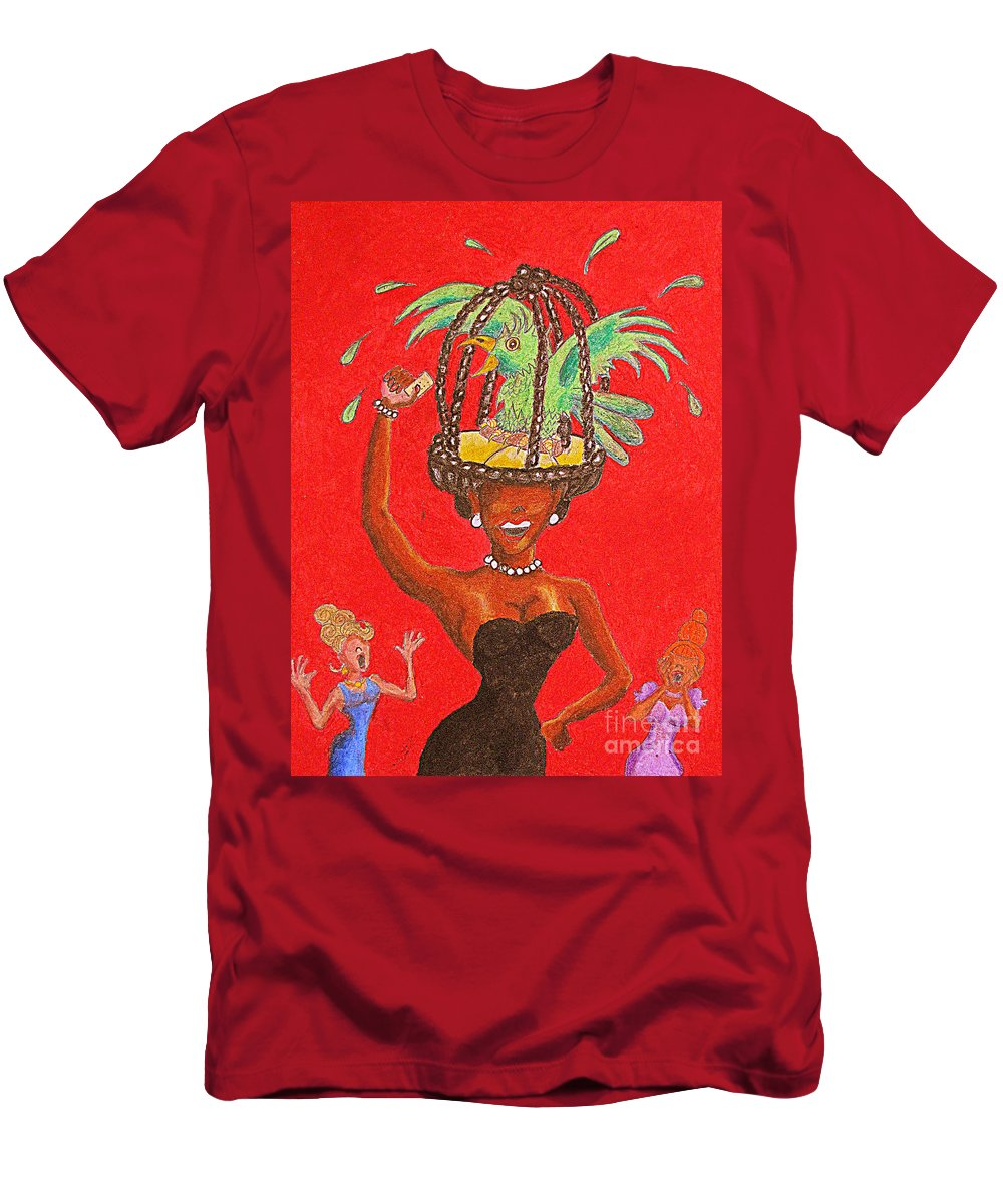 Women Men's T-Shirt (Athletic Fit) featuring the drawing Booyah by William Bryant