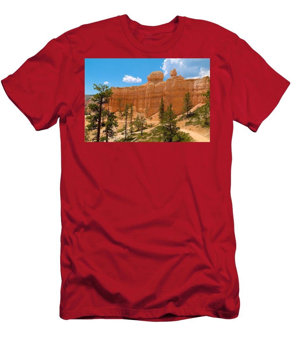 Bryce Canyon Men's T-Shirt (Athletic Fit) featuring the photograph Bryce Canyon Walls by Richard J Cassato