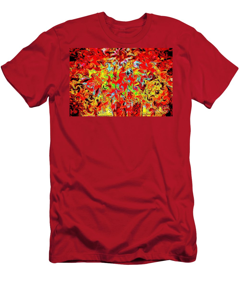 Fine Art Photography Men's T-Shirt (Athletic Fit) featuring the photograph Burning Tree by Nicholas Costanzo