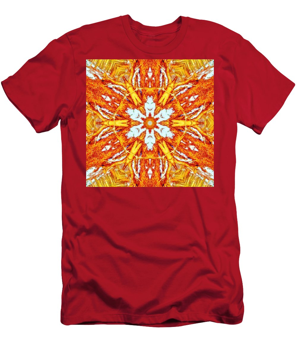 Burning Winter Men's T-Shirt (Athletic Fit) featuring the photograph Burning Winter by Derek Gedney