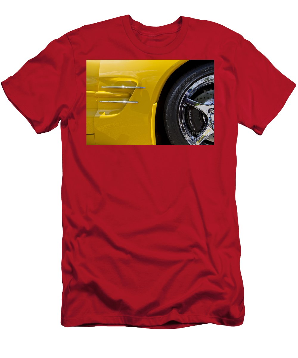 Chevrolet Men's T-Shirt (Athletic Fit) featuring the photograph C5 Corvette by Dennis Hedberg