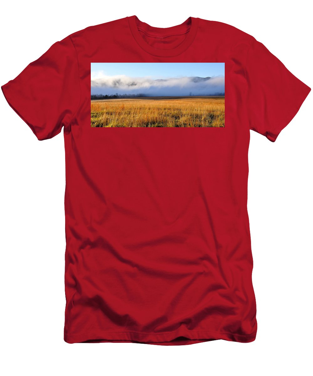 Cades Cove Men's T-Shirt (Athletic Fit) featuring the photograph Cades Cove by Todd Hostetter