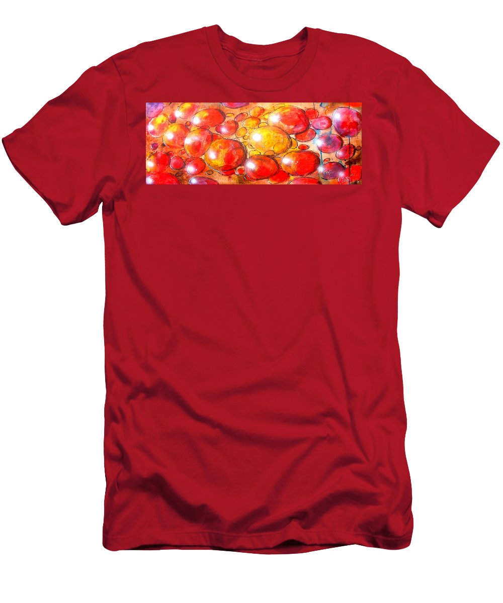 Abstract Men's T-Shirt (Athletic Fit) featuring the painting Cells by Marcello Cicchini