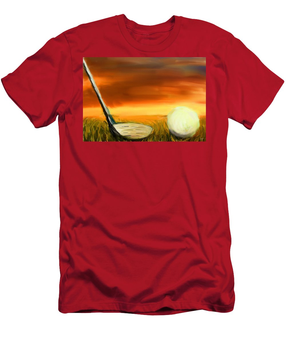 Golf Men's T-Shirt (Athletic Fit) featuring the digital art Chance To Hit by Lourry Legarde