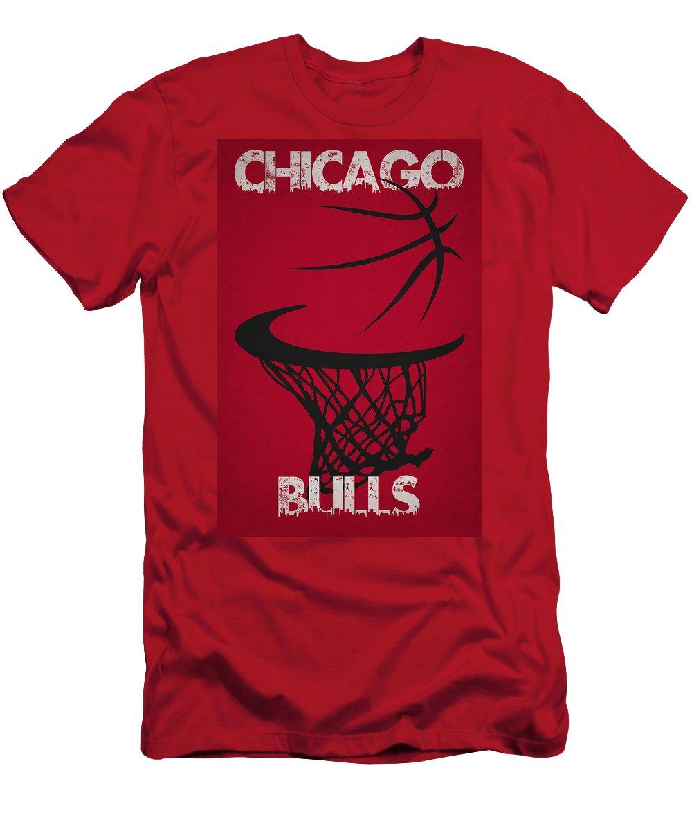 Bulls Men's T-Shirt (Athletic Fit) featuring the photograph Chicago Bulls Hoop by Joe Hamilton