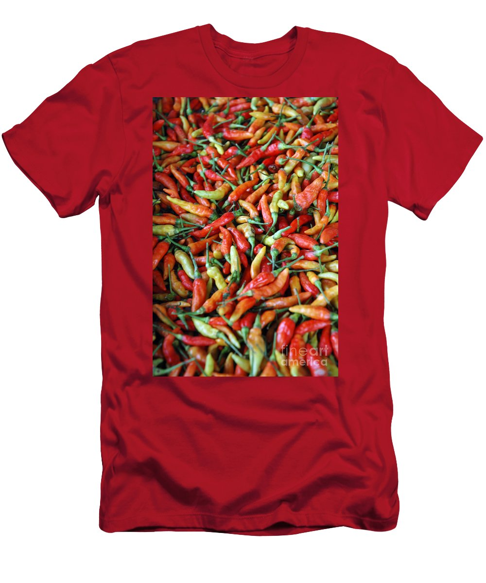 Hot Men's T-Shirt (Athletic Fit) featuring the photograph Chilli Background by Antoni Halim