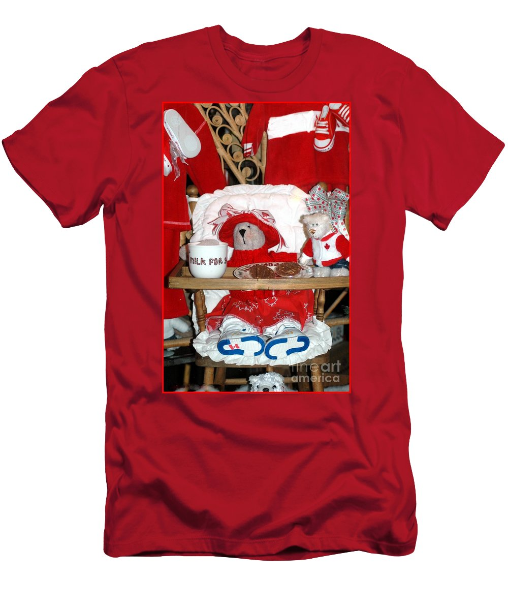 Teddy Men's T-Shirt (Athletic Fit) featuring the photograph Christmas Delights by Kathleen Struckle