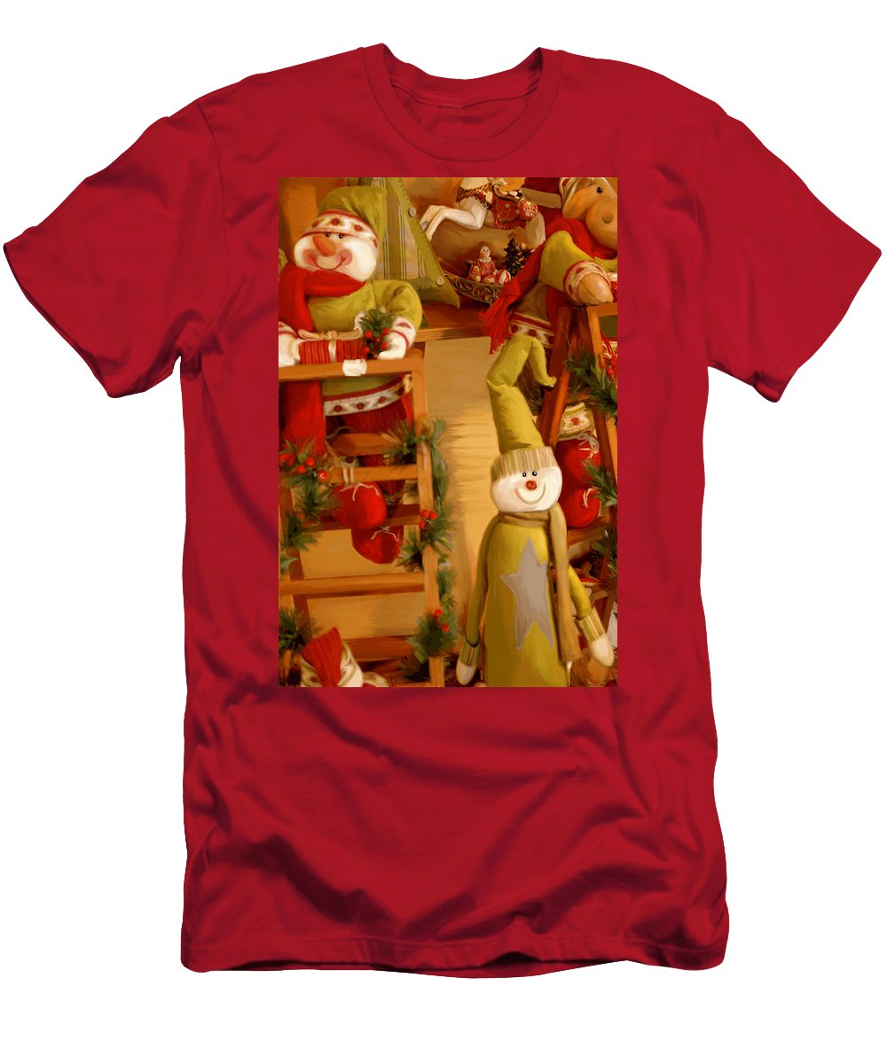 Toys Men's T-Shirt (Athletic Fit) featuring the digital art Christmas Toys by Gina Dsgn