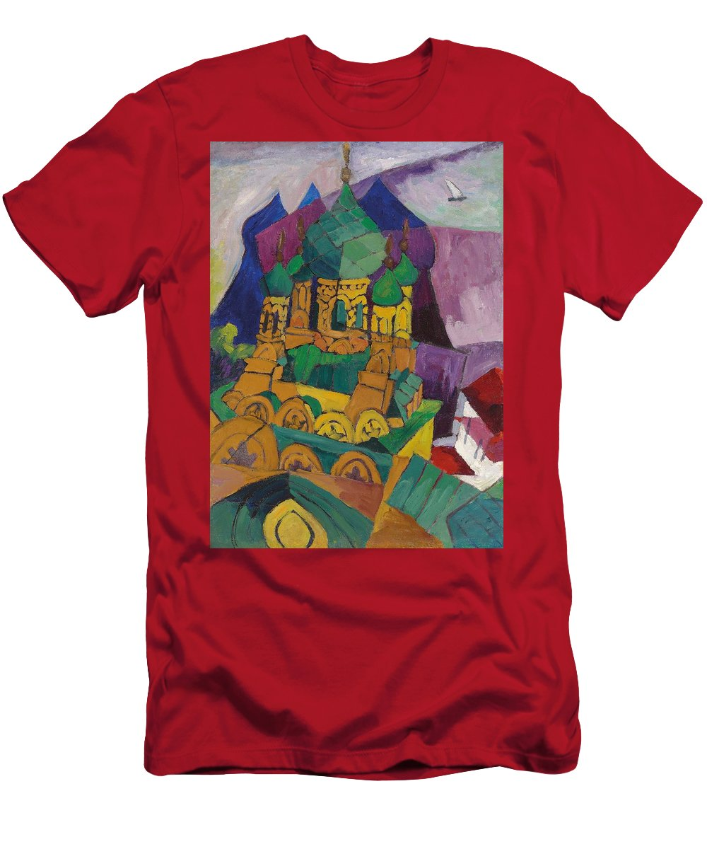 Church Men's T-Shirt (Athletic Fit) featuring the painting Church In Alupka by Aristarkh Vasilievic Lentulov