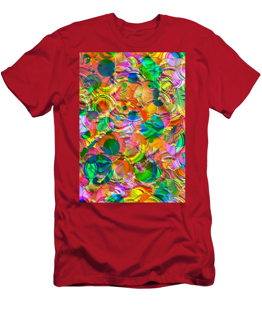 Circles Men's T-Shirt (Athletic Fit) featuring the digital art Circles by Liane Wright