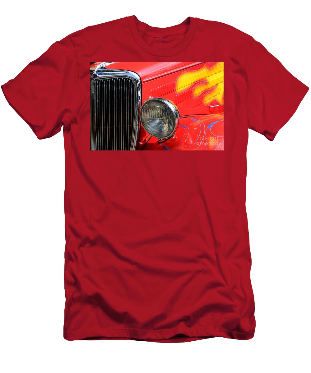 Car Shows Men's T-Shirt (Athletic Fit) featuring the photograph Classic Cars Beauty By Design 8 by Bob Christopher