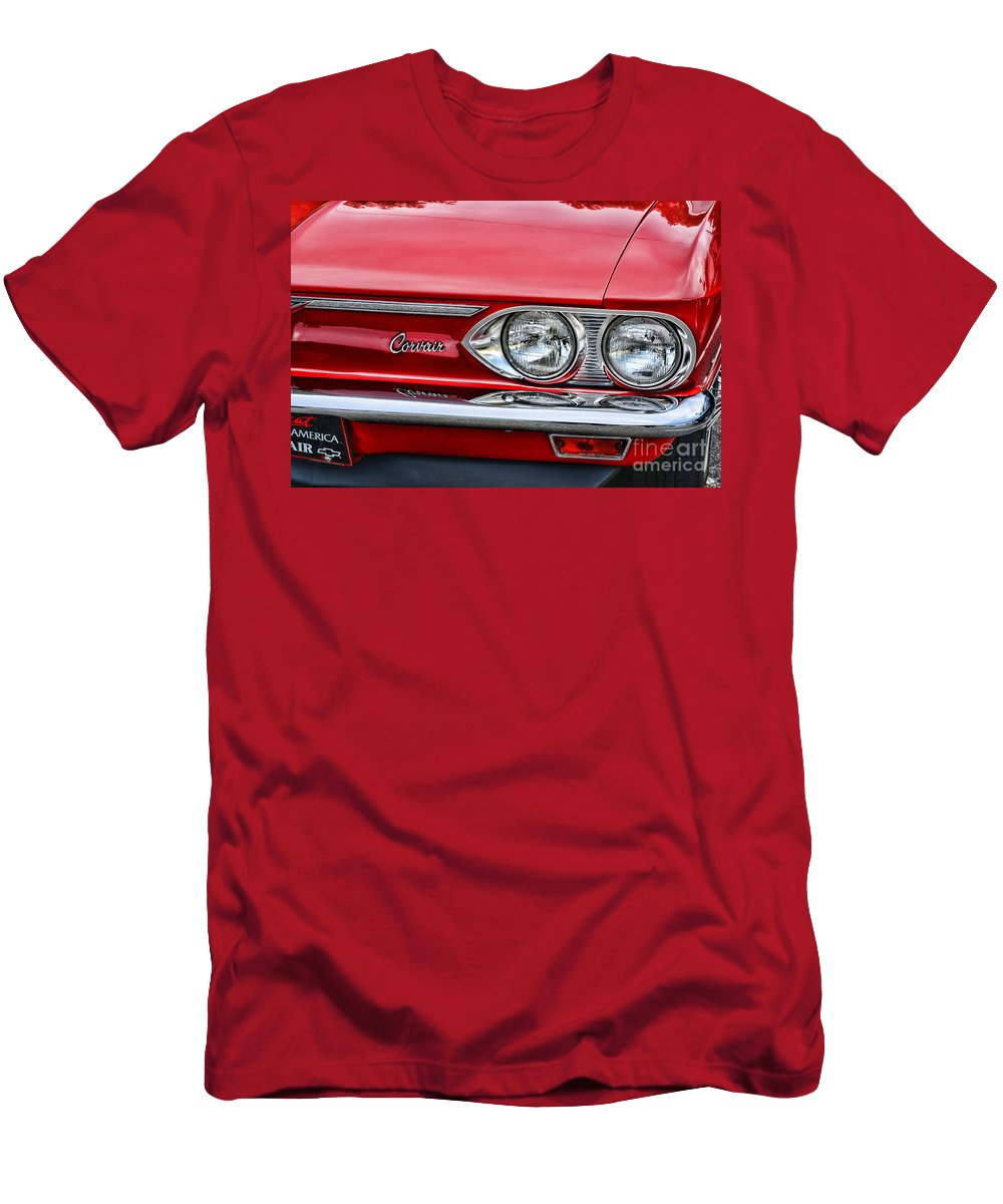 Paul Ward Men's T-Shirt (Athletic Fit) featuring the photograph Classic Corvair by Paul Ward