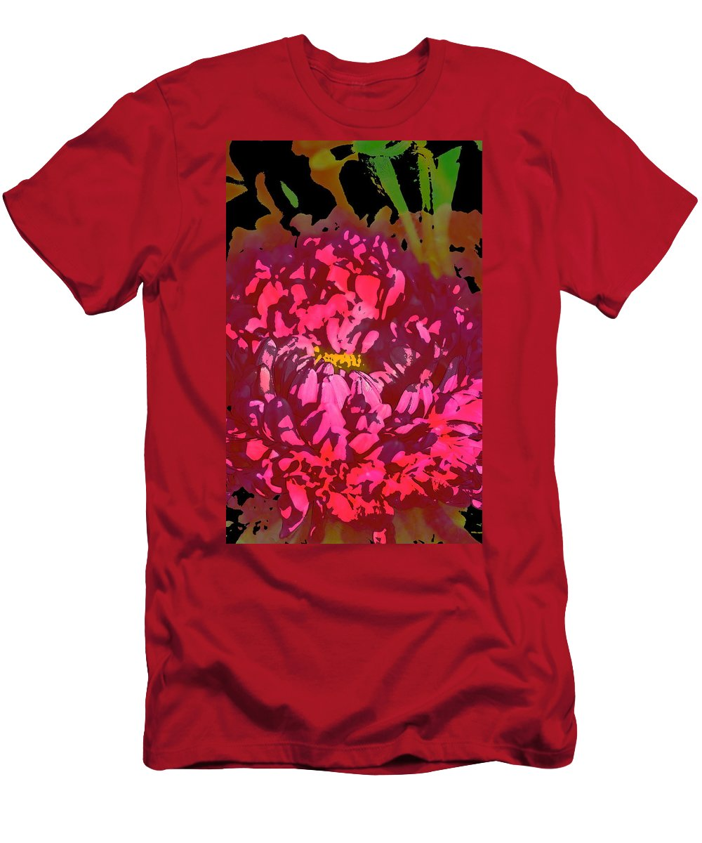 Floral Men's T-Shirt (Athletic Fit) featuring the photograph Color 128 by Pamela Cooper