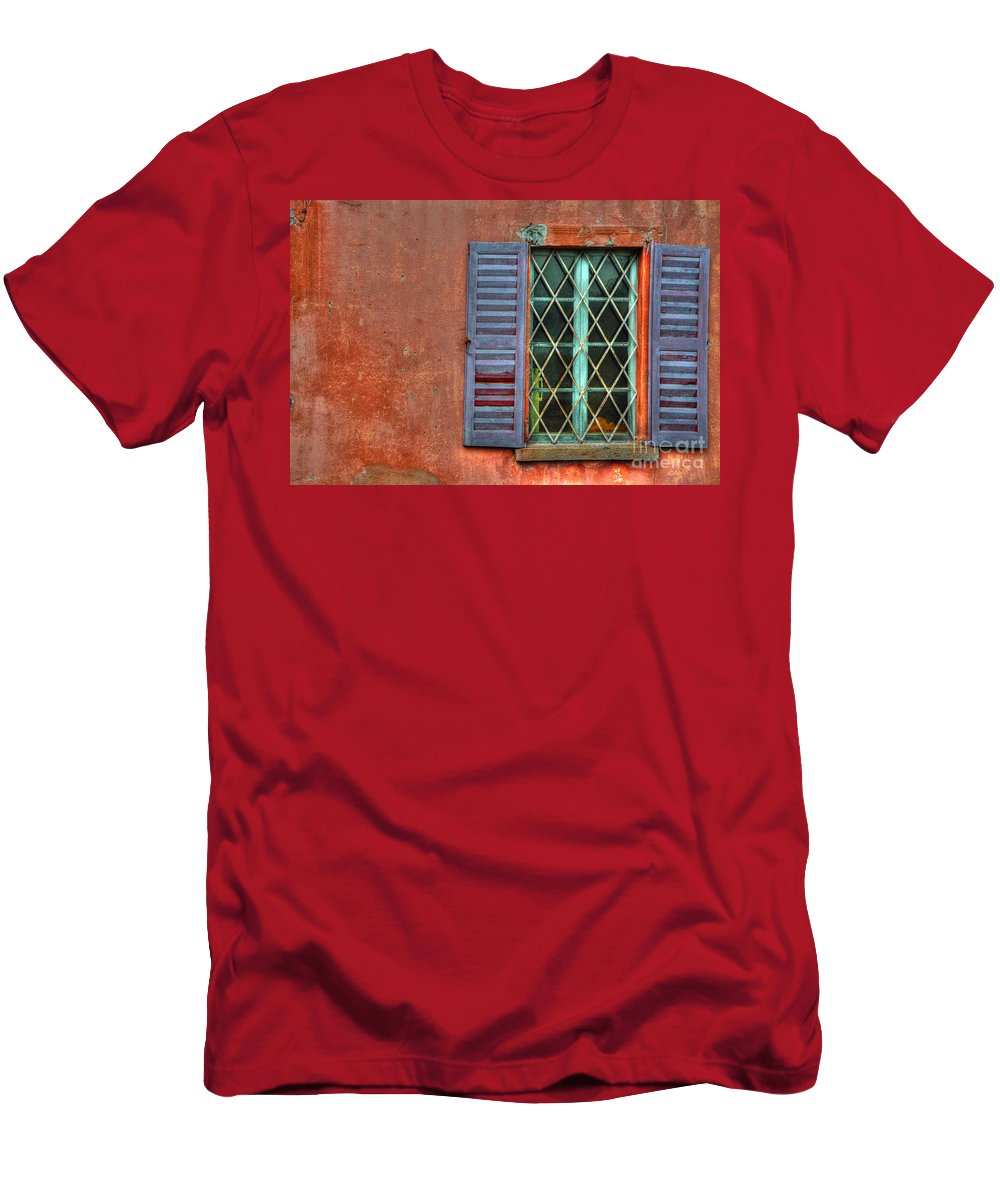 Window Men's T-Shirt (Athletic Fit) featuring the photograph Colorful Window by Mats Silvan