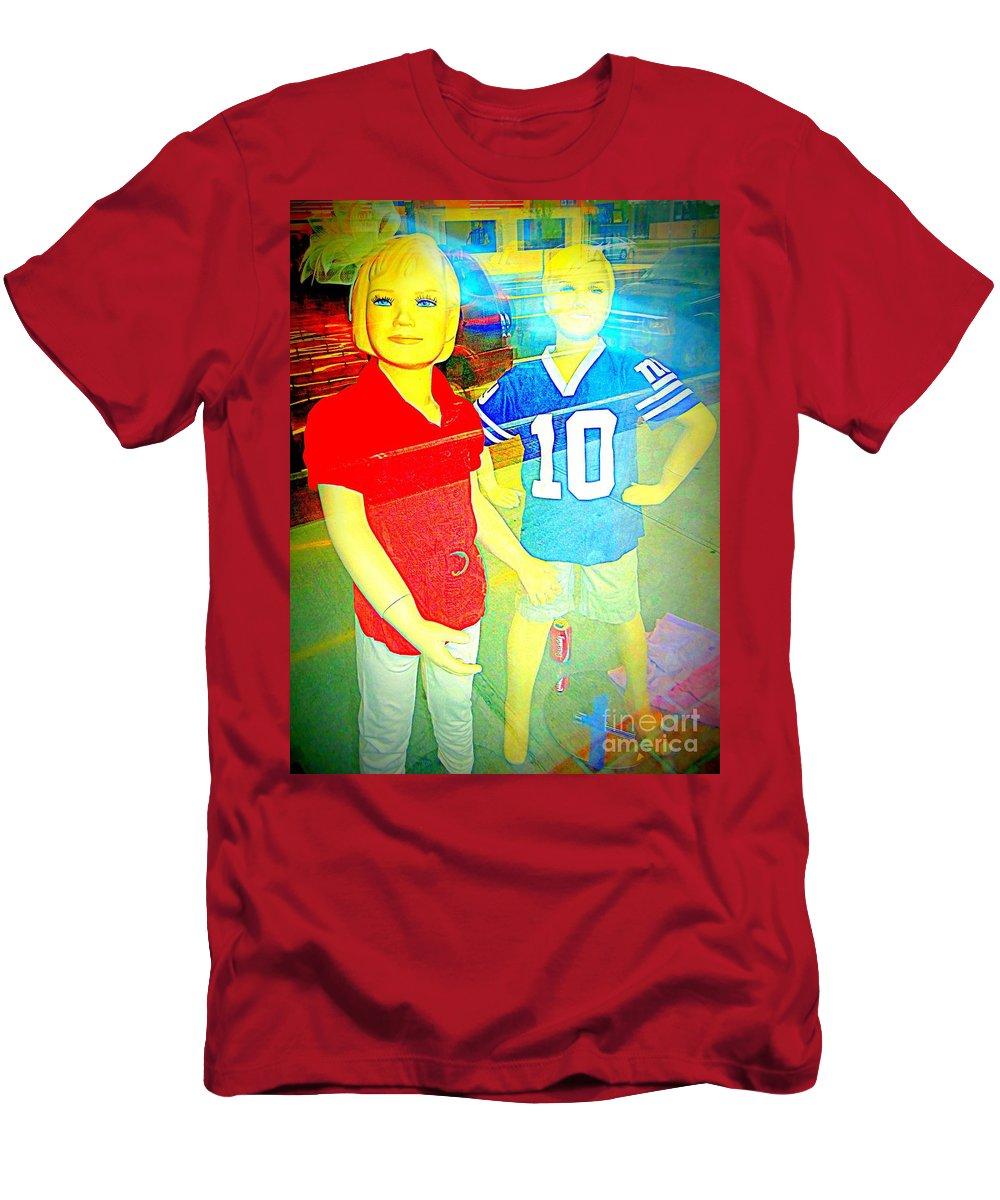 Pop Art Men's T-Shirt (Athletic Fit) featuring the digital art Cool Kids by Ed Weidman