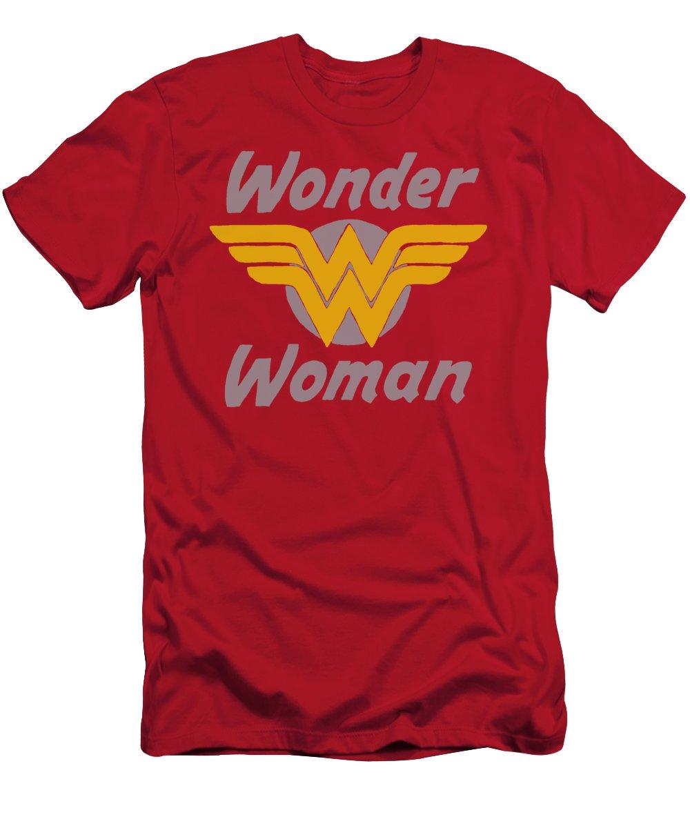 Dc Comics T-Shirt featuring the digital art Dc - Wonder Wings by Brand A