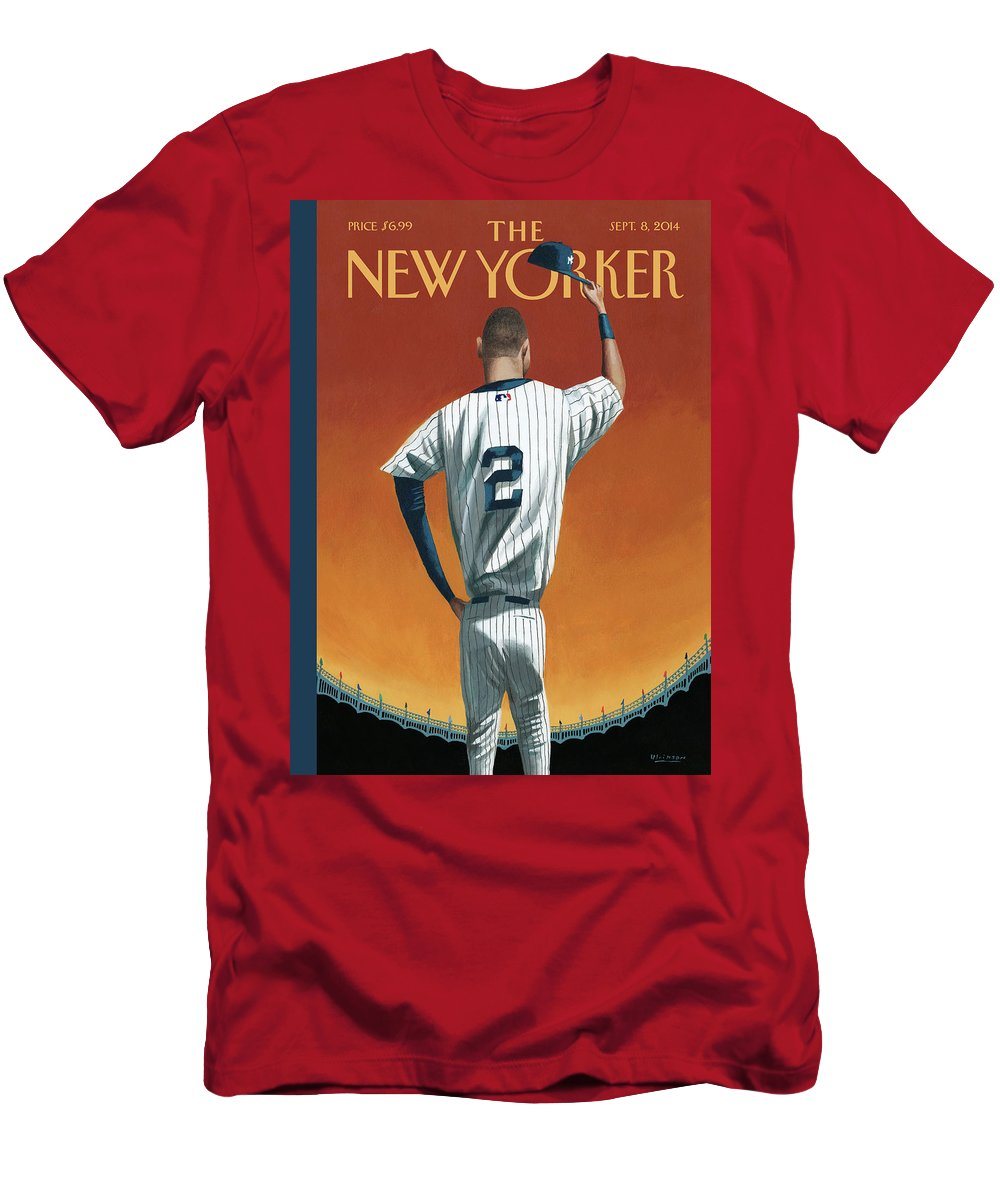 Retirement T-Shirt featuring the painting Derek Jeter Bows Out by Mark Ulriksen