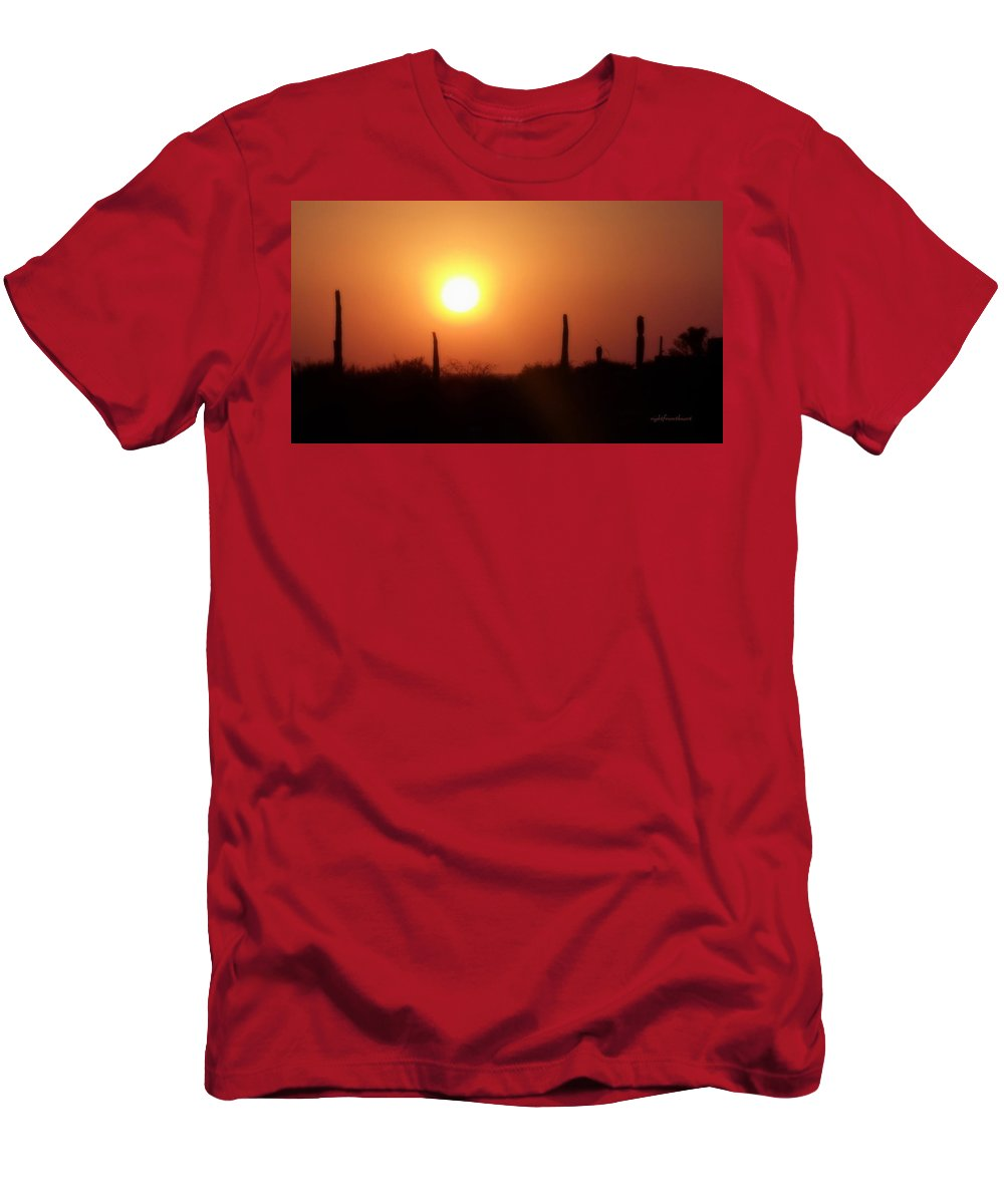 Rightfromtheart Men's T-Shirt (Athletic Fit) featuring the photograph Desert by Bob and Kathy Frank