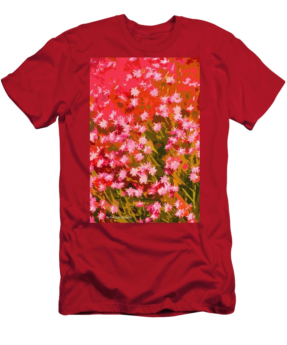 Desert Broom Abstract Men's T-Shirt (Athletic Fit) featuring the photograph Desert Broom Abstract by Tom Janca