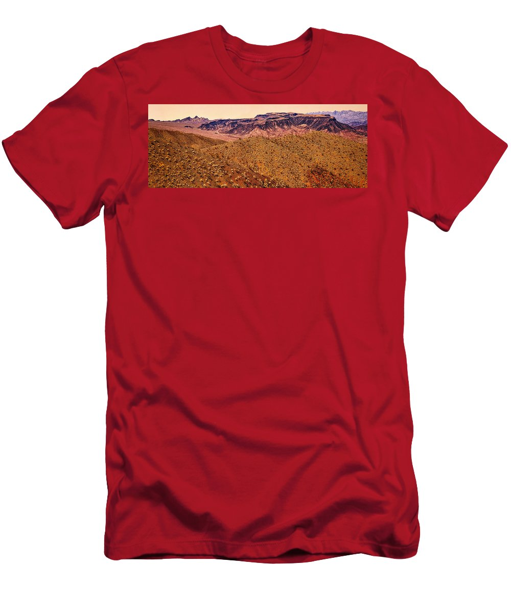 Angel Men's T-Shirt (Athletic Fit) featuring the photograph Desert View In Arizona By The Colorado River by Bob and Nadine Johnston
