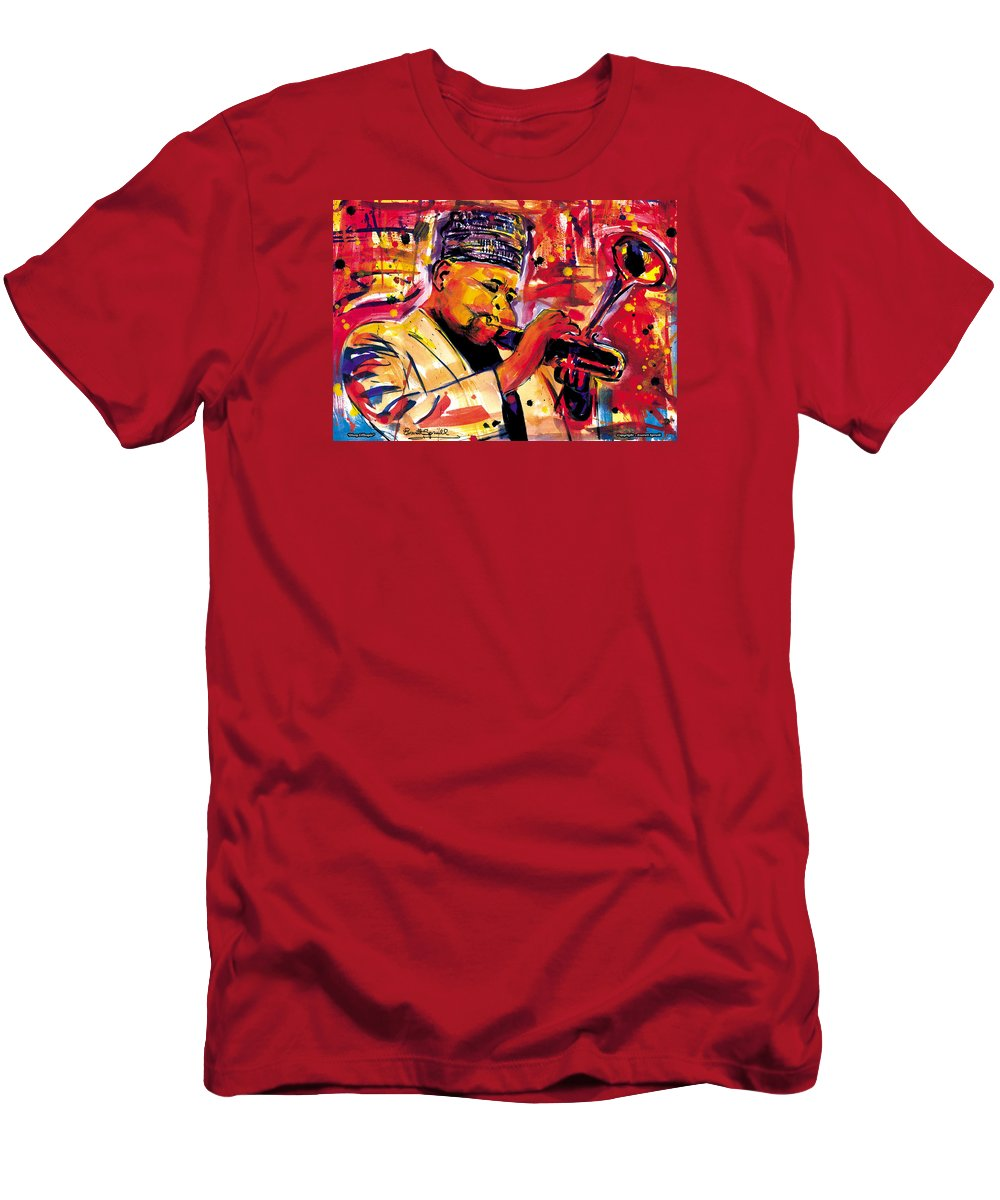 Dizzy Gillespie Men's T-Shirt (Athletic Fit) featuring the painting Dizzy Gillespie by Everett Spruill