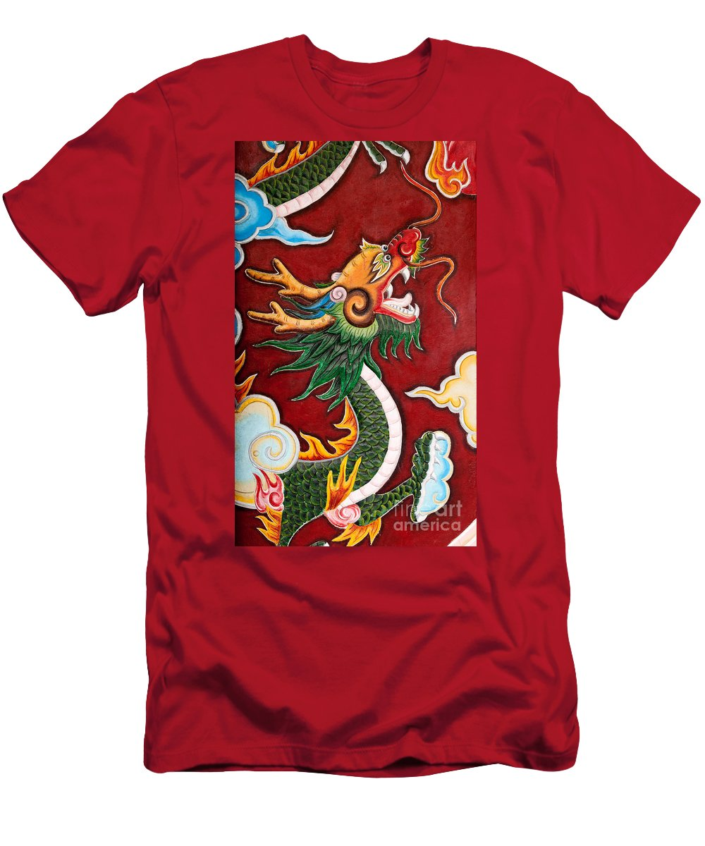 Vietnam Men's T-Shirt (Athletic Fit) featuring the photograph Door Dragon 02 by Rick Piper Photography