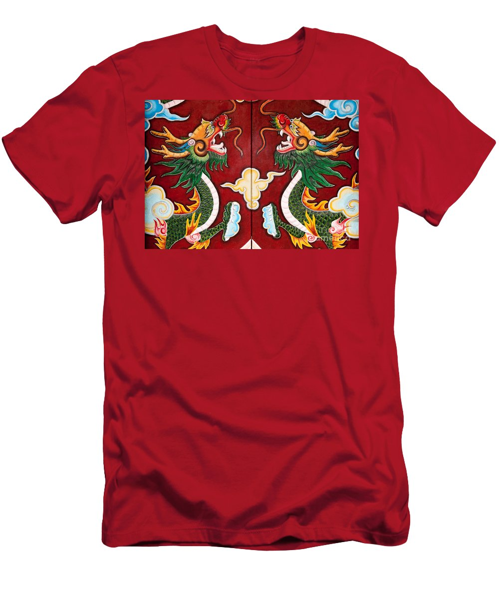 Vietnam Men's T-Shirt (Athletic Fit) featuring the photograph Door Dragons 03 by Rick Piper Photography