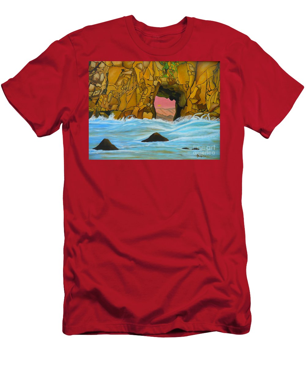 Sun Men's T-Shirt (Athletic Fit) featuring the painting Doorway To The Sun by Anthony Dunphy