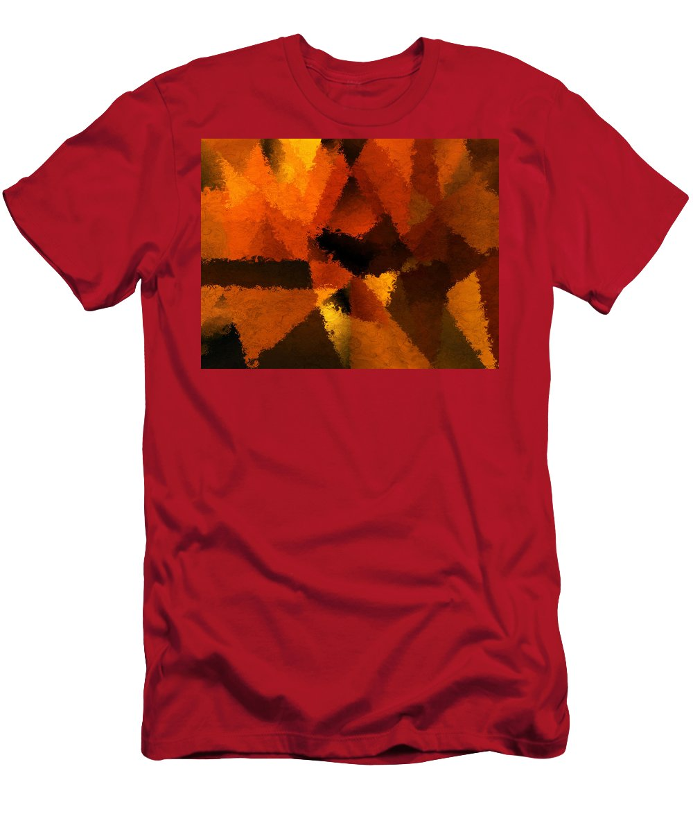 Colors Men's T-Shirt (Athletic Fit) featuring the digital art D'or Memoire by Lourry Legarde