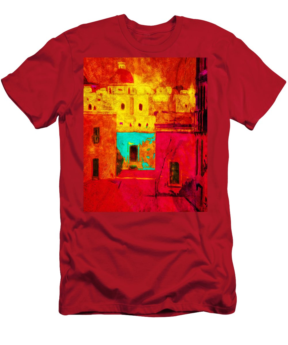 Color Men's T-Shirt (Athletic Fit) featuring the photograph Downtown Oaxaca by Terry Fiala