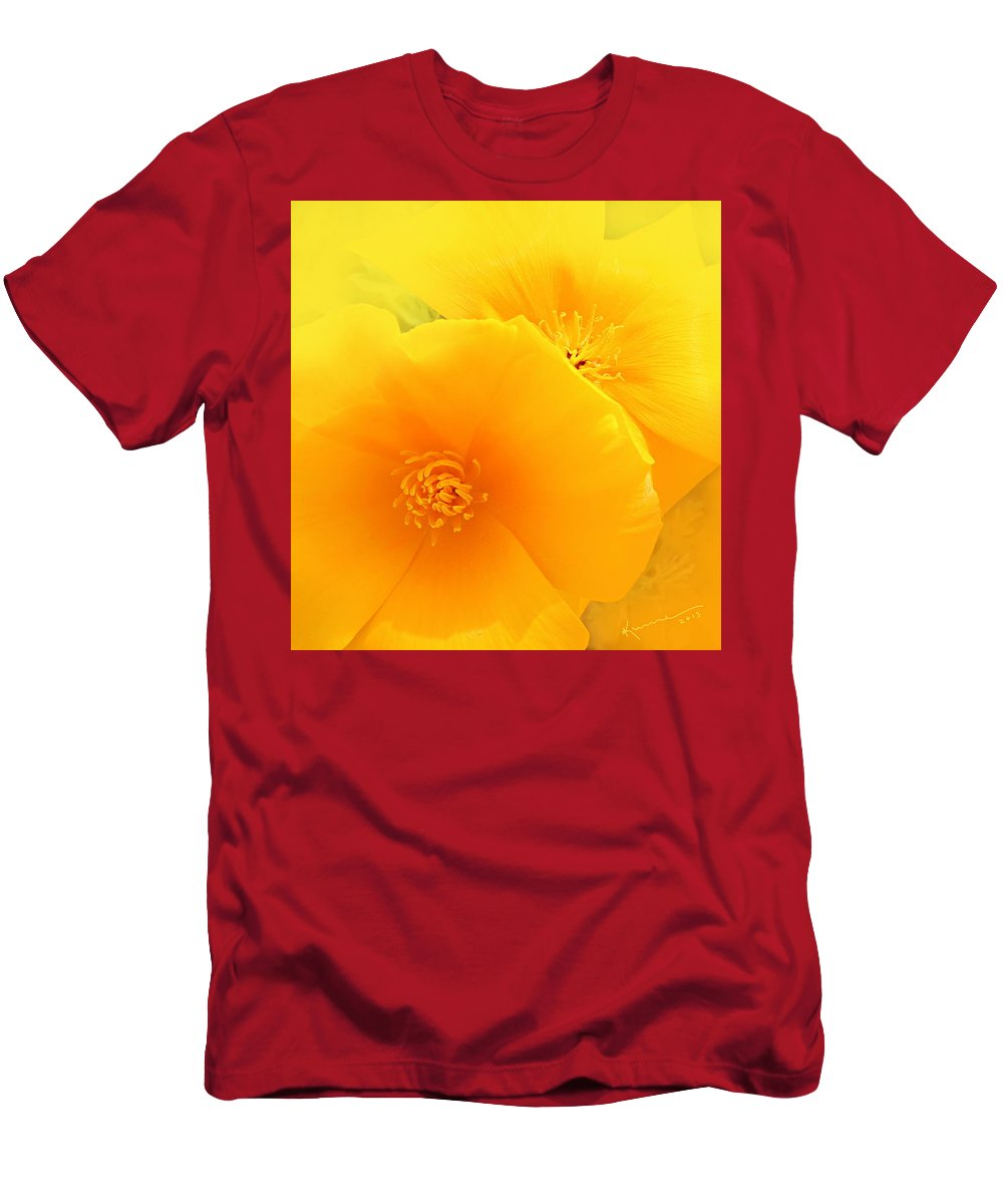 Dreamy Poppies Men's T-Shirt (Athletic Fit) featuring the photograph Dreamy Poppies by Kume Bryant
