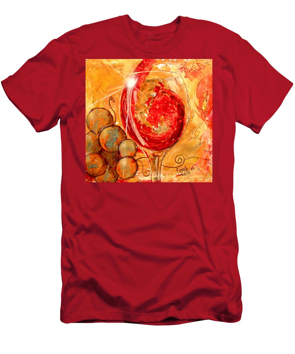 Expressionism Men's T-Shirt (Athletic Fit) featuring the painting E Dio Disse by Marcello Cicchini