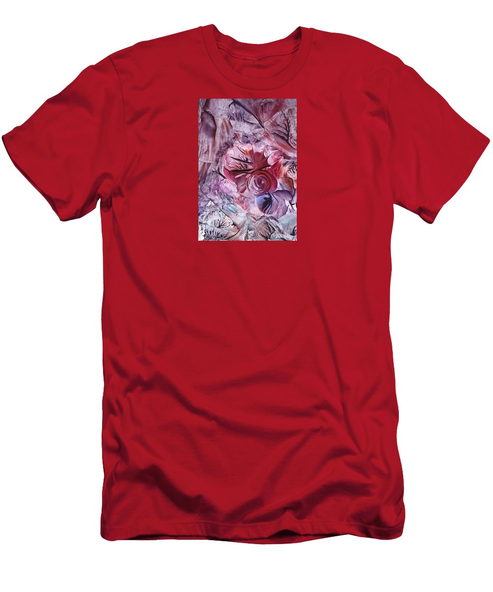 Wax Men's T-Shirt (Athletic Fit) featuring the painting Eden Afloat by Cristina Handrabur